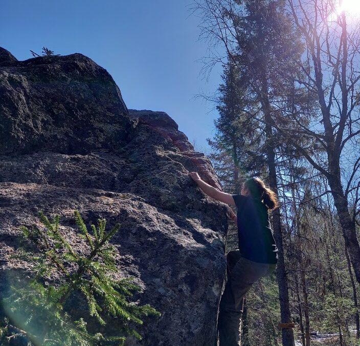 Climbing in the nature @Storuman Lapland