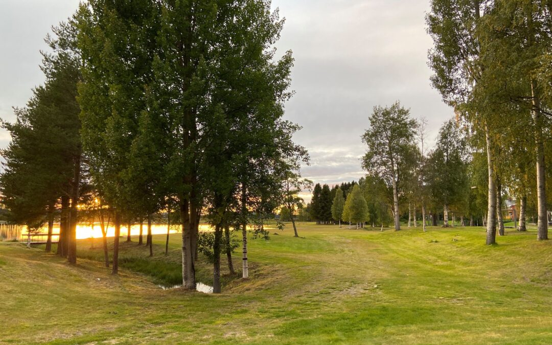 Discgolf at badsjön – Storuman Lapland