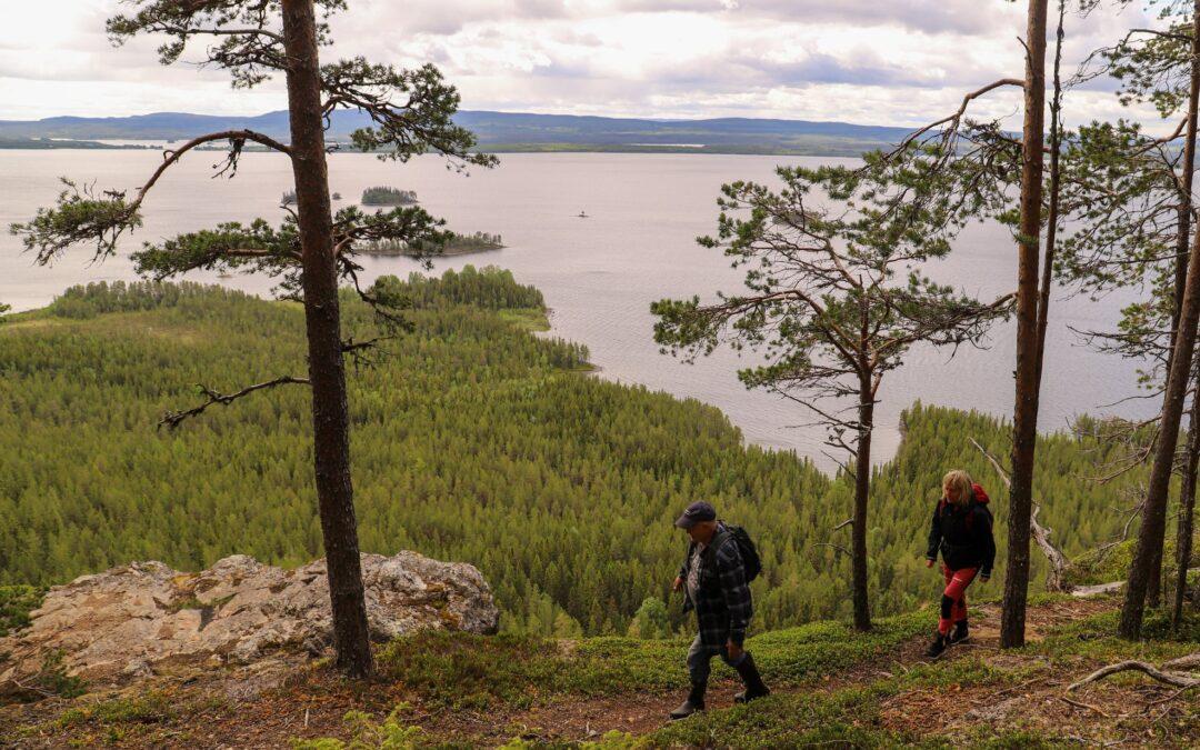 Vandra på Kyrkberget med en hisnande utsikt