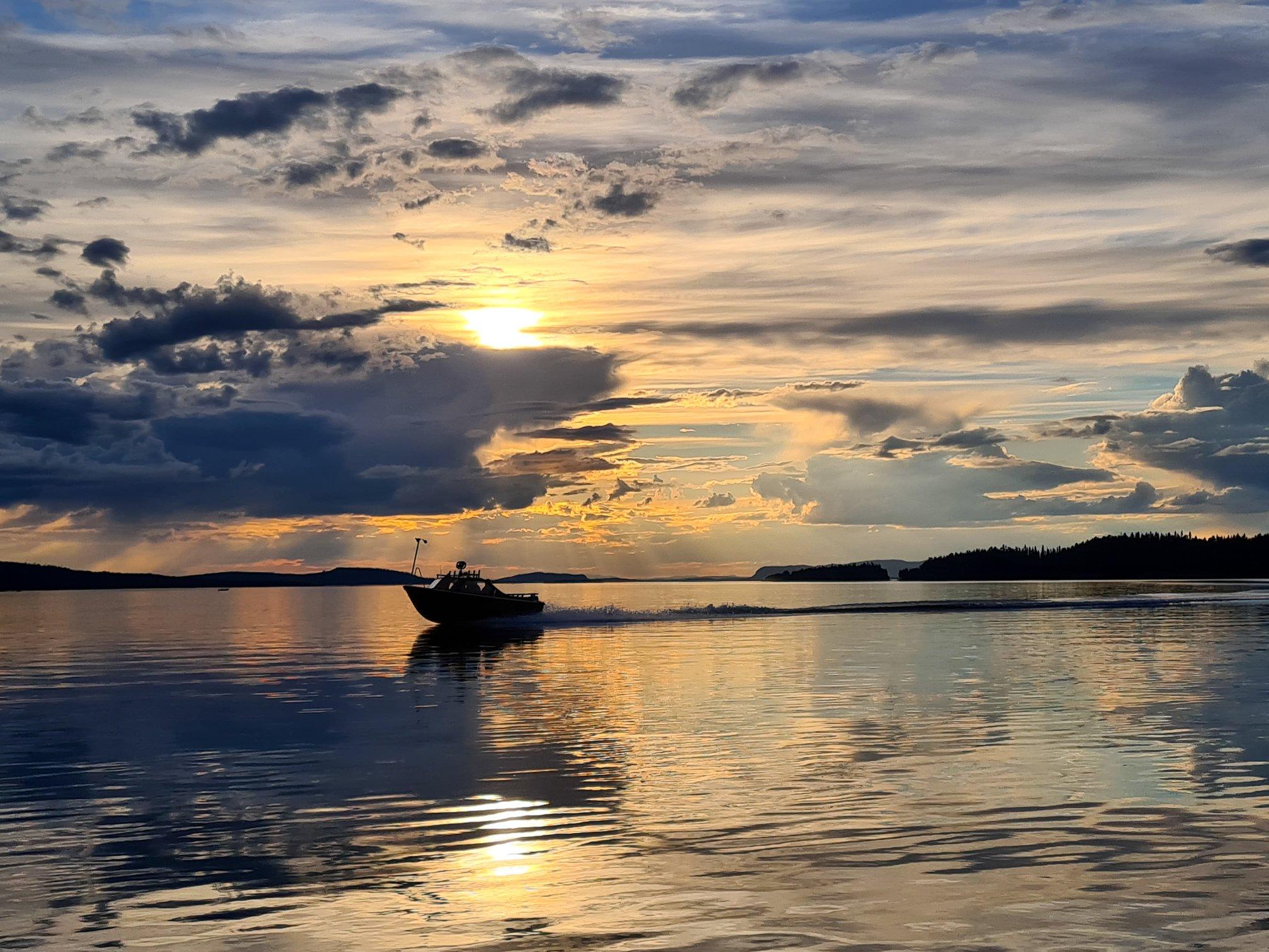 Båtliv på sjön Storuman